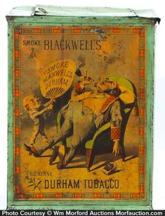 Antique Advertising | Blackwell's Durham Tobacco Bin • Antique Advertising