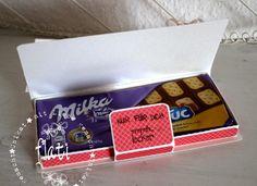 Wie ich ja schon vor ein paar Tagen erwähnte, wollte meine Schwester eine Schokiverpackungs-Datei für eine Milka-Schokolade...   Die hat si...