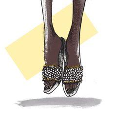 5 tendências de calçados para a primavera/verão 2018: chinelo slide Kate Spade, Lace Up, Flats, Shoes, Fashion, Book Cabinet, Wish, Fashion Beauty, Books