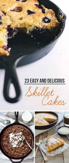 I'm pretty sure I need to buy a skillet now.  23 Skillet Cakes That Anyone Can Make