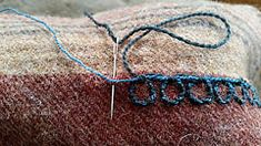 Oseberg Chain Stitch: Step 1 (Ragnvaeig) Tags: embroidery viking oseberg laidandcouched