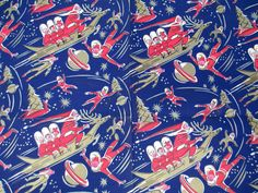 Best Space Age Vintage Wrapping Paper Sheet by hauntedlampvintage