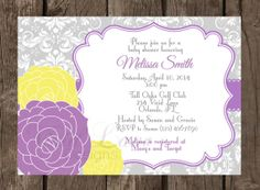 Baby Shower Printable Invitation  Yellow and by VividLaneDesigns, $15.00