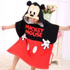 Poncho rouge enfant Mickey