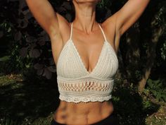 Crochet Top. Crochet Halter Top 'Victoria'. by BelovedbyStella
