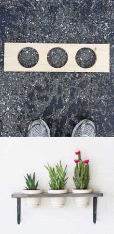 DIY: Macetero colgante minimalista - bybrittanygoldwyn.com - DIY Hanging Indoor Garden