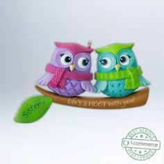 "New Hallmark 2012 ""Life's A Hoot With Sisters"" Ornament"