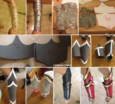 Eva foam bracers tutorial *sorry for my english if any errors* My page: www.facebook,com/m.cosplay • Use plastic wrap to cover the area you want to take out the pattern from. • Then cover it with...