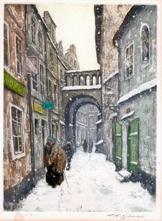 All the known graphics of the Czech artist Tavik Frantisek Simon on one page Great Paintings, Old Paintings, Victorian London, Cityscape Art, Winter Scenery, Color Of Life, More Pictures, Illustrations, Prague