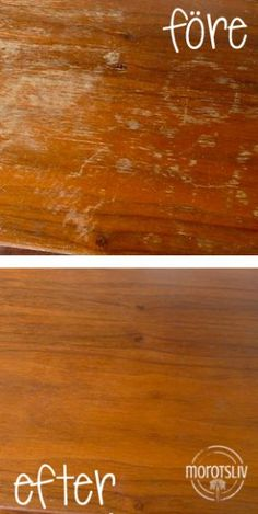 Door you an old wooden furniture that has started to look a bit worn? Then there is a quick, cheap and easy way to Diy Cleaning Products, Cleaning Hacks, Renovation Parquet, Wood Crafts, Diy And Crafts, Bra Hacks, Cool Tables, Diy Cleaners, Home Hacks
