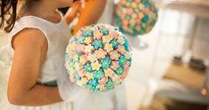 buquê de marshmallow, buquê de daminhas, buquê de noivinhas, casamento diy, diy buquê, buquê, bouquet, buquê de noiva, casamento, dicas de casamento diy
