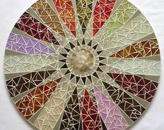 Mandala  mosaic 0,60cm  |   wouldn't this be nice as a turntable top for the dining room table - beautiful hues!