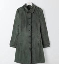 Graphite Keswick Velvet Coat Women Boden