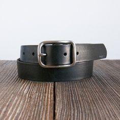 Billykirk - № 312 Slim Center Bar Belt - Black - Indigo & Cotton