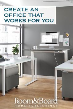 Made by Humanscale®, this height-adjustable modern desk lets you easily alternate between sitting and standing throughout your workday. Click to shop all of our Humanscale products to create a health-conscious office environment.