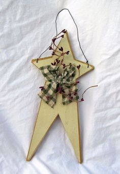 Americana Wood Wooden Star Country Primitive Patriotic 4th of July Wall Hanging #Unbranded