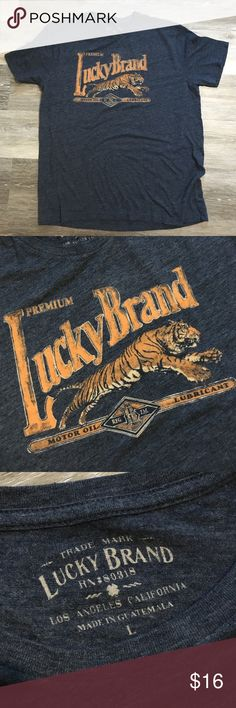🍀Lucky Brand Men's T-shirt Meeooww your way out of any situation with this marvelous shirt. Like New. Lucky Brand Shirts Tees - Short Sleeve