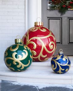 outdoor christmas ornament small outdoor christmas decorations winter decorations christmas printables christmas - Large Outdoor Christmas Balls