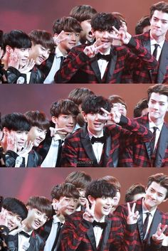 There is such much happening in this picuture. From Yixing to sehun