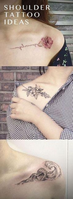 Vintage Black Flower Tattoo Ideas for Women - Traditional Watercolor Floral Ideas Del Tatuaje - Surf Waves Arm Idées de Tatouage - www.MyBodiArt.com