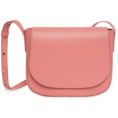 Mansur Gavriel Blush Crossbody Bag ($595) ❤ liked on Polyvore featuring bags, handbags, shoulder bags, red crossbody purse, red crossbody, red crossbody handbags, cross body and mansur gavriel handbags