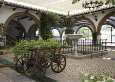 Espacio interior de vegetación natural acondicionado para albergar hasta 300 comensales