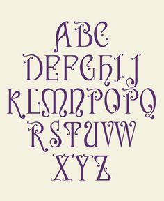 """Letras capitulares de """"Nerea"""", la tipografía de inspiración Neo Art Nouveau #typography #artnouveau #letters"""
