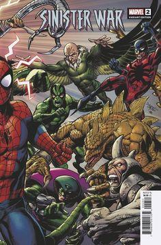 Sinister War #2 | Variant cover art by Mark Bagley, John Dell & Brian Reber Mark Bagley, Greatest Villains, Amazing Spider, Comic Books Art, T 4, Cover Art, Marvel Comics, Vulture, Spiderman