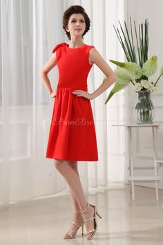 Knee-Length Red Bridesmaid Dress...our Lady in Red !