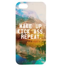 Image 1 of ASOS iPhone 5 Cover with Kick Ass Print