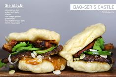 Bao-ser's Castle Burger combines White Castle, Asian food, Mario puns