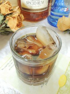 Whipped Captain {Our Signature Wedding Cocktail} via thefrugalfoodiemama.com #rum #vodka