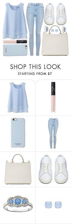 """""""street style"""" by sisaez ❤ liked on Polyvore featuring Uniqlo, NARS Cosmetics, Isaac Mizrahi, Topshop, Dolce&Gabbana, adidas Originals, LC Lauren Conrad, Forever New, women's clothing and women's fashion"""