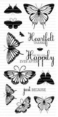 Clearly Besotted Stamps Elegant Butterflies | Clearly Besotted Stamps