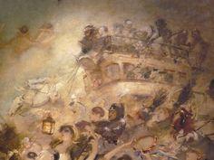 WILLETTE Adolphe,1884 - Parce Domine - Detail 092 : Français : Un attelage à imperiale au milieu d'une foule en fête.  English: - A double-deck carriage in the middle of a festive crowd. - Montmartre -