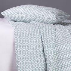 pastel green printed bedspread