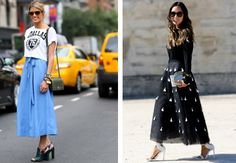 Trend of the day! This summer ankle have hit the scene and they just so happen to be the perfect way to combine a lengthy skirt with a pretty pair of High Waisted Skirt, Scene, Pairs, Ankle, Day, Heels, Pretty, Summer, Fashion
