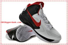 Top Quality Nike Black Red White Nike Zoom Hyperfuse 2012 525022
