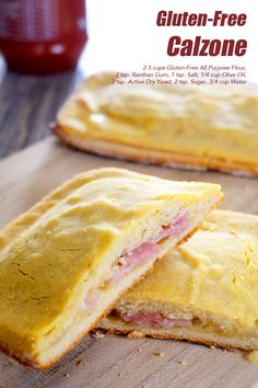 Gluten-Free Calzone Pack a totally different on-the-go meal for your family. They'll surely love it Gluten Free Calzone Recipe, Gluten Free Pizza, Gluten Free Flour, Dry Yeast, Pizza Dough, Sandwiches, Meals, Baking, Recipes