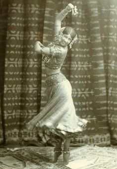Woman dancer from From the NYPL: Ruth St. Denis in Radha.