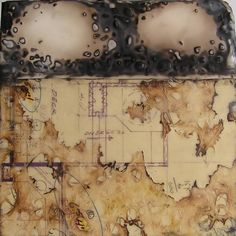 title unknown ~ encaustic ~ artist, alas, unknown