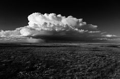 Massive storm cloud viewed from First Peoples Buffalo Jump, Montana