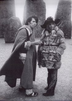 Keith Richards & Anita Pallenberg - Stonehenge; 1968