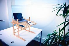 Positive Office EcoDesk Standing Laptop Desk