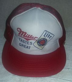 431d2678edb  14.96 or best offer Miller Lite Baseball Cap Hat Mesh Trucker Mens Vintage   Miller