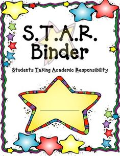 A great cover for your students' STAR Binder.
