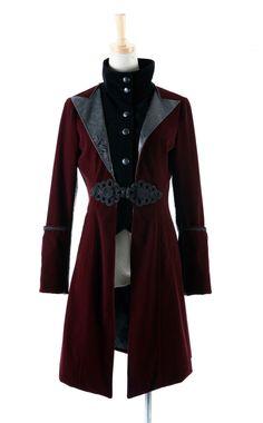 Punk Rock Black Red military Jacket Coat blazer Visual Kei Streampunk Unisex fashion