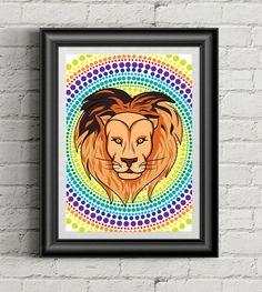 draw draw animal lion vector rastr