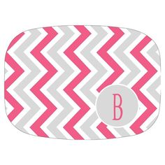 I pinned this Chevron Personalized Platter in Pink from the One Bella Casa event at Joss and Main!
