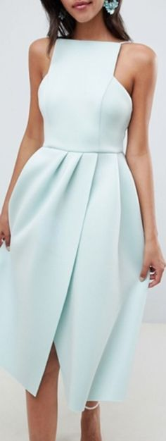 structured open back dress